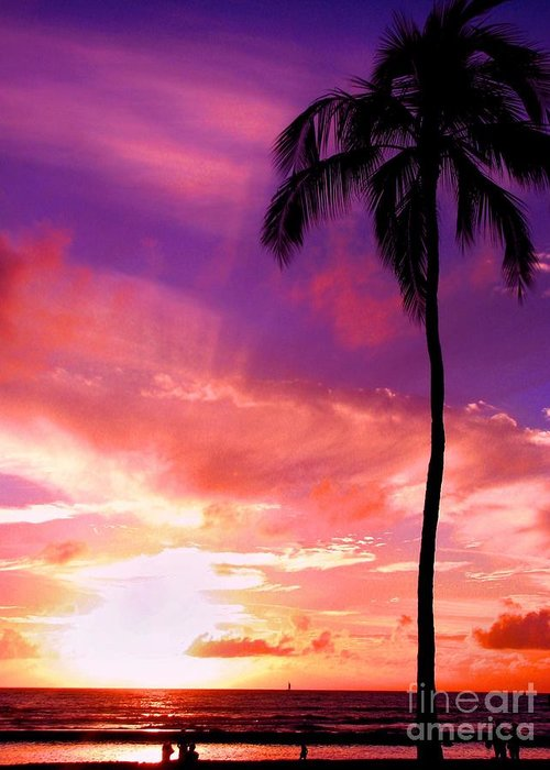 Sunset Greeting Card featuring the photograph Purple Sky by Kristine Merc