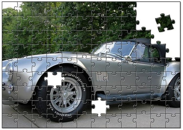 Sports Car Greeting Card featuring the photograph Puzzled Muscle Car by Rabecca Primeau