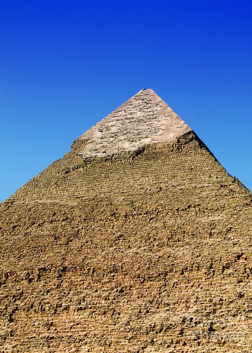 Pyramids Greeting Card featuring the photograph Pyramids Of Giza 15 by Antony McAulay