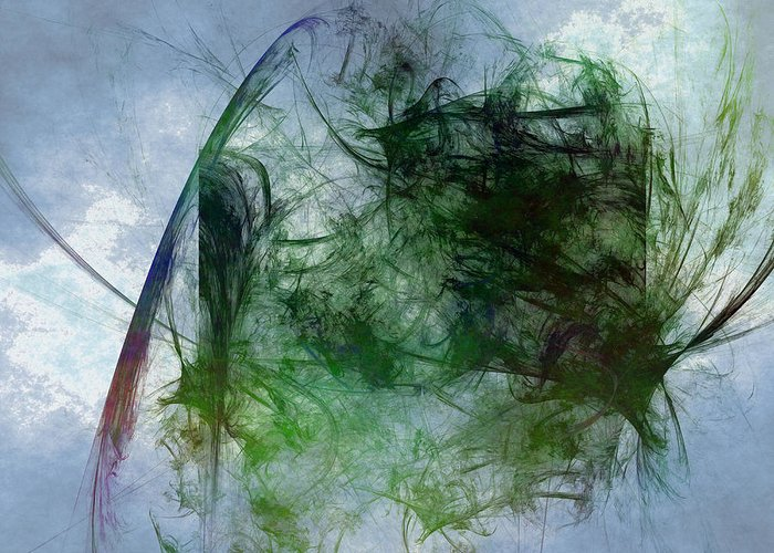 Abstract Greeting Card featuring the digital art Pyrene by Jeff Iverson