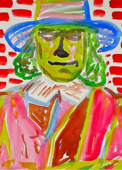Quaker Oats Man Greeting Card featuring the painting Quaker Oats by Troy Thomas