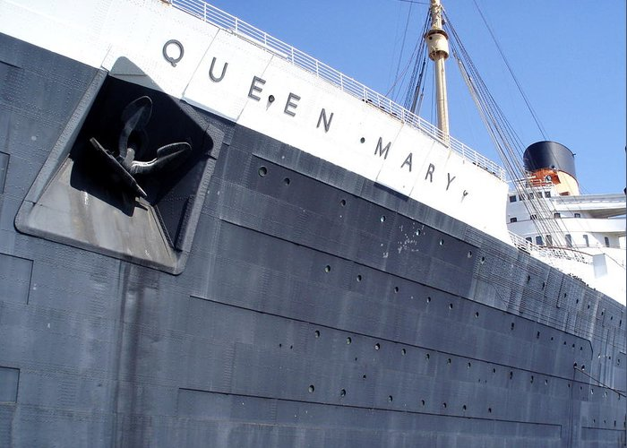 Vehicle Greeting Card featuring the photograph Queen Mary by Patrik Hansson