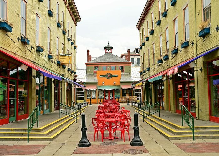 Cincinnati Greeting Card featuring the photograph Quiet Day at Findlay Market by David Earl Johnson