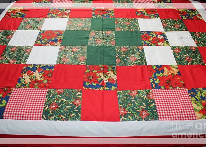 Queen Size Quilts Greeting Cards