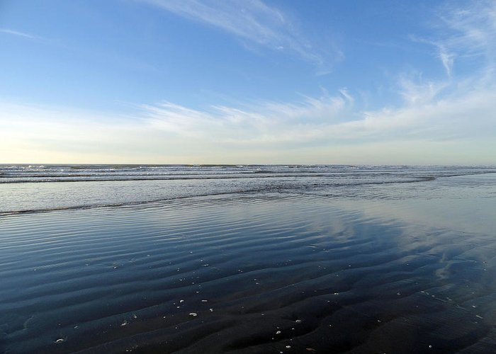 Quinault Greeting Card featuring the photograph Quinault Beach Patterned Reflection by Robert Meyers-Lussier