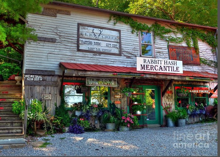 Rabbit Hash Greeting Card featuring the photograph Rabbit Hash Mercantile by Mel Steinhauer