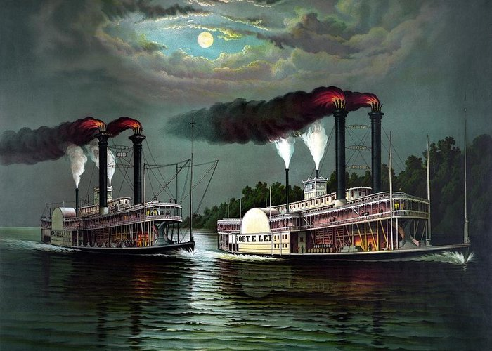 Paddle Steamer Greeting Cards