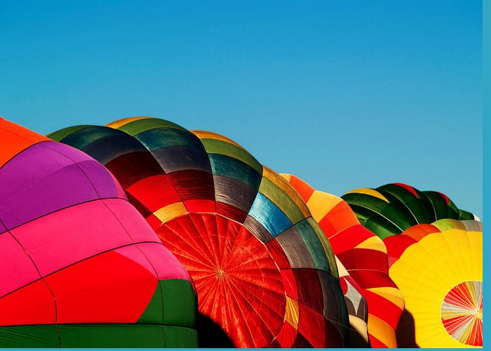 Reno Greeting Card featuring the photograph Racing Balloons by Bill Gallagher