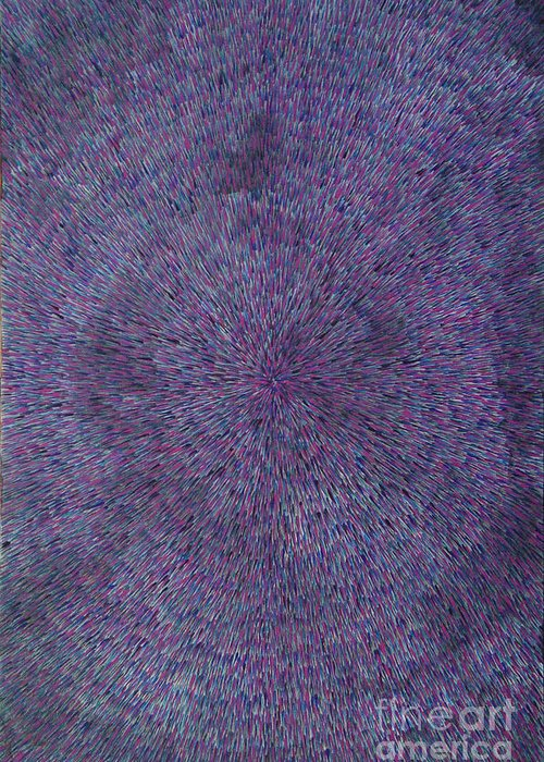 Abstract Greeting Card featuring the painting Radiation Violet by Dean Triolo