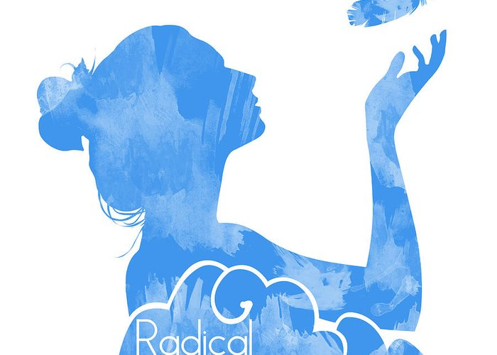 Feather Greeting Card featuring the drawing Radical Dreamers Logo by Tuan HollaBack