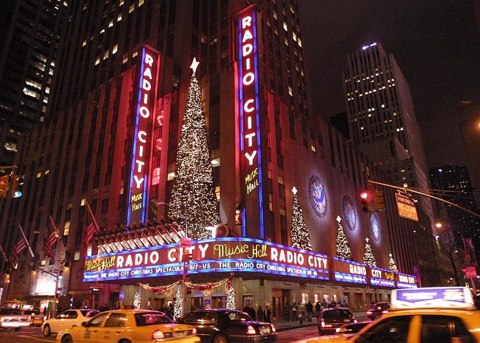 Radio City Music Hall Greeting Card featuring the photograph Radio City Music Hall by Gary Ezell