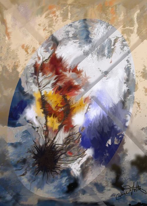 Abstract Greeting Card featuring the painting Raging_tempest by Eugene Foltuz