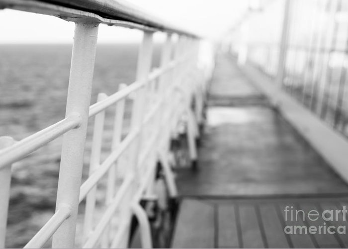 Abstract Greeting Card featuring the photograph Railings by Anne Gilbert
