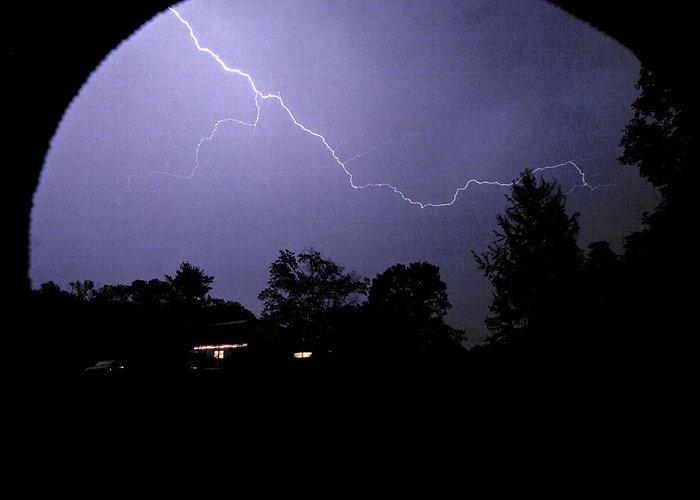 Lightning Greeting Card featuring the photograph Rain Hood by Nikolas Kolenich