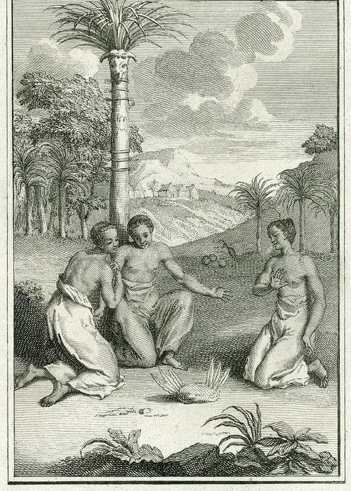 Guinea Greeting Card featuring the drawing Rain-making Ceremony Of The People by Mary Evans Picture Library