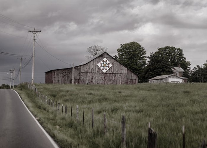 Barn Greeting Card featuring the photograph Rain Rolling In by Heather Applegate