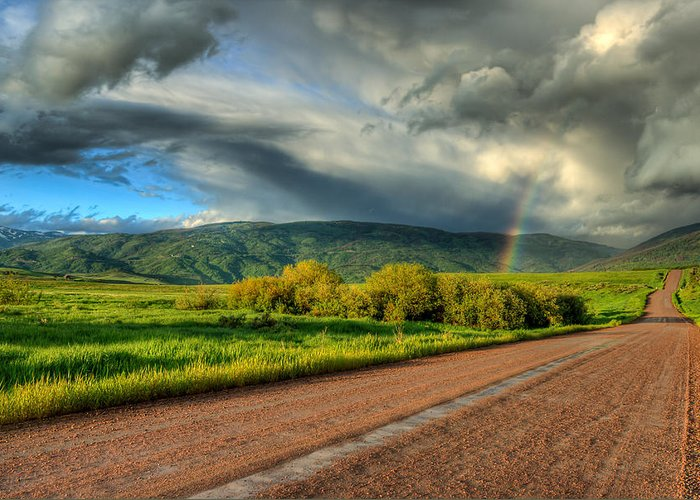 Rainbow Greeting Card featuring the photograph Rainbow After The Storm by John McArthur