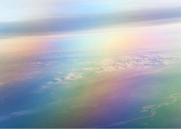 Rainbow Greeting Card featuring the photograph Rainbow Earth. Essence Of Life by Jenny Rainbow