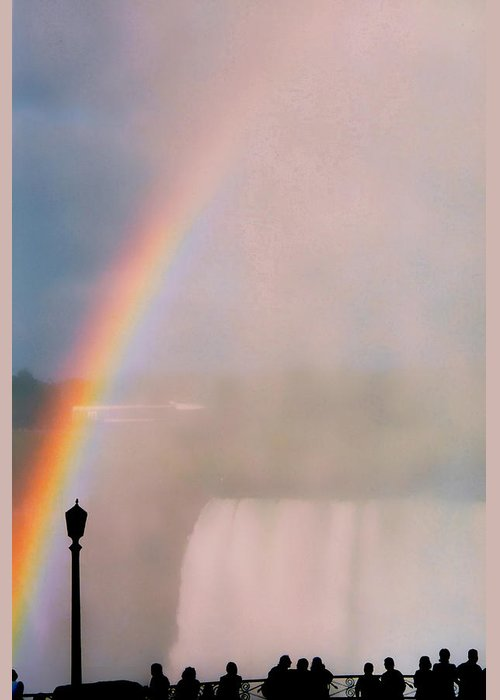 Rainbow Greeting Card featuring the photograph Rainbow Falls by Pharris Art
