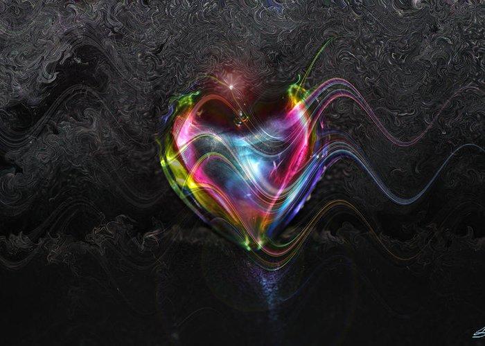 Rainbow Heart Greeting Card featuring the photograph Rainbow Heart by Linda Sannuti