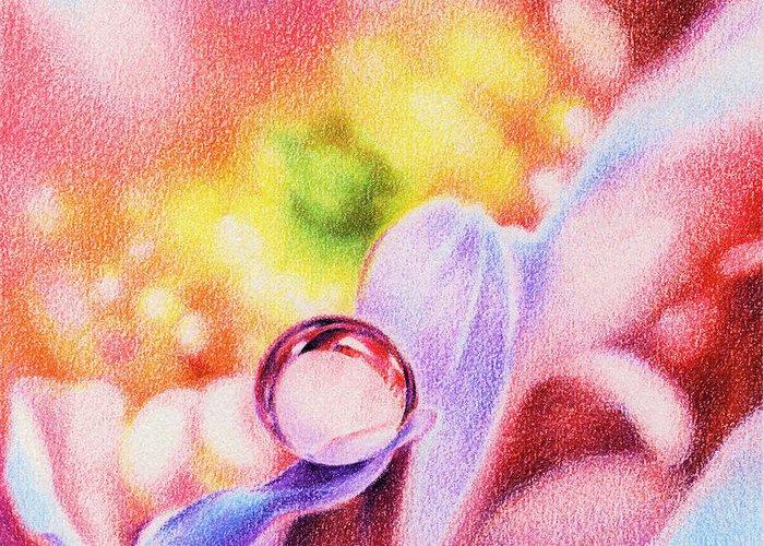Nature Greeting Card featuring the drawing Rainbow by Natasha Denger