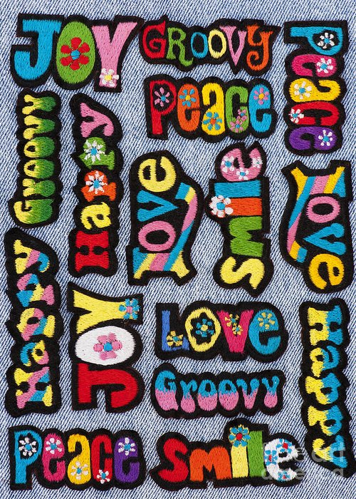 Embroidery Greeting Card featuring the photograph Rainbow Text by Tim Gainey