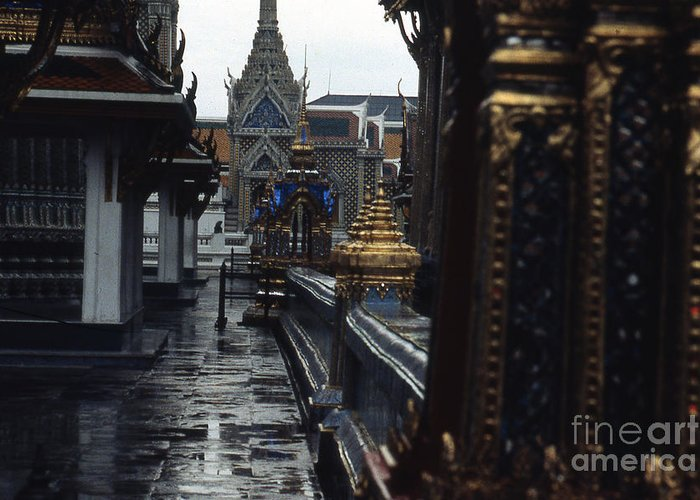Scott Shaw Greeting Card featuring the photograph Rainy Day In Bangkok by Scott Shaw