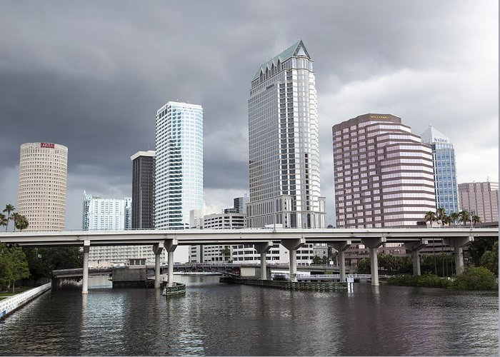 Clouds Greeting Card featuring the photograph Rainy Day In Tampa by Ramunas Bruzas
