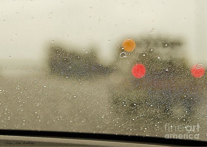 Rain Greeting Card featuring the photograph Rainy Day Perspective by MaryJane Armstrong