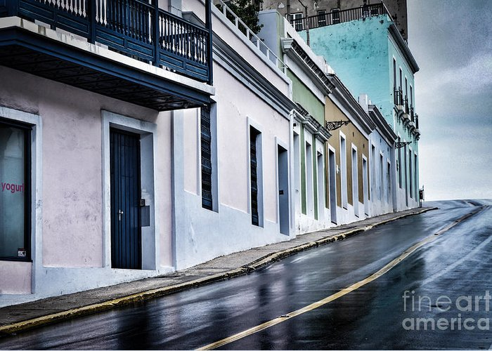 Puerto Rico Greeting Card featuring the photograph Rainy Day by Tami Martin