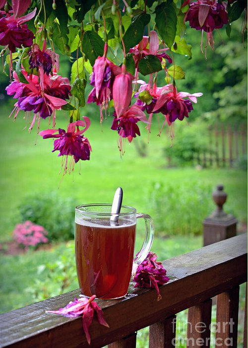 Rainy Day Greeting Card featuring the photograph Rainy Day Tea by Lila Fisher-Wenzel