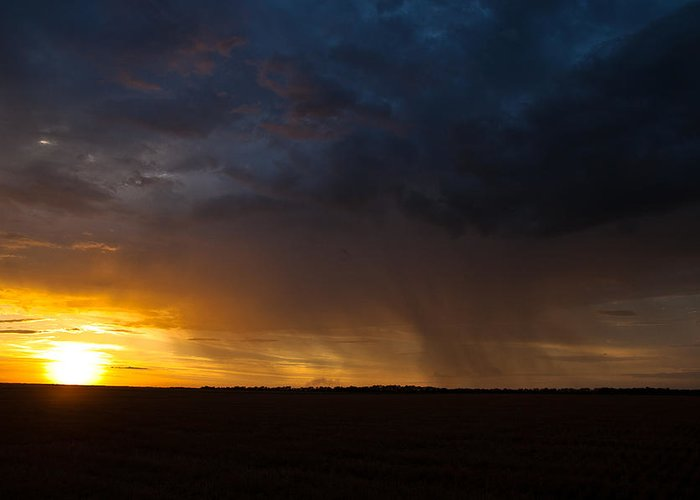 Rain Greeting Card featuring the photograph Rainy Sunset by Brandon Ivey
