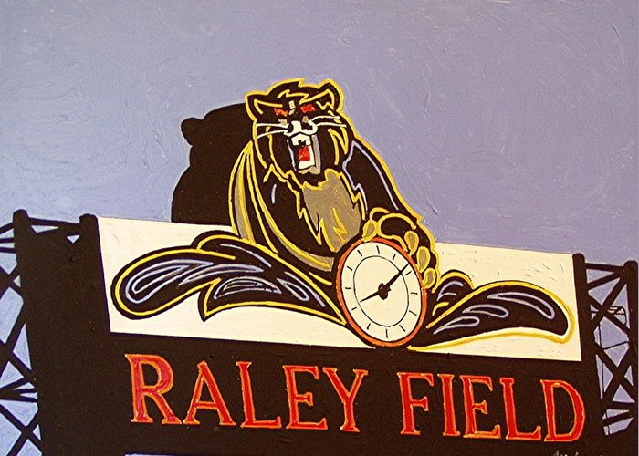 Raley Field Greeting Card featuring the painting Raley Field by Paul Guyer