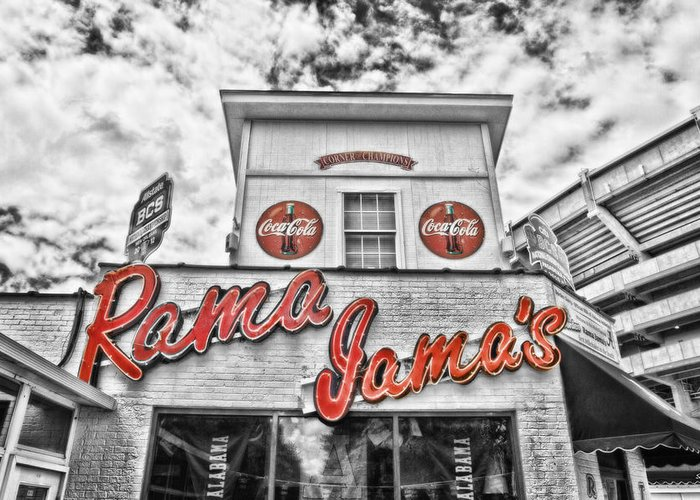Selective Color Greeting Card featuring the photograph Rama Jama's by Scott Pellegrin