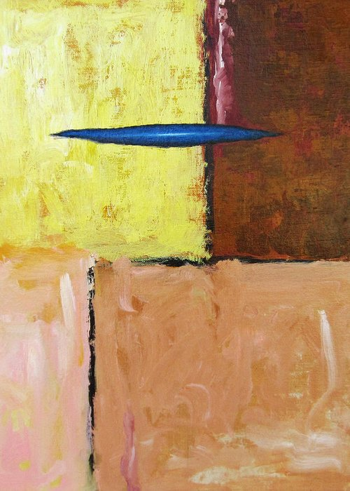 Abstract Greeting Card featuring the painting Random Harvest by Snake Jagger