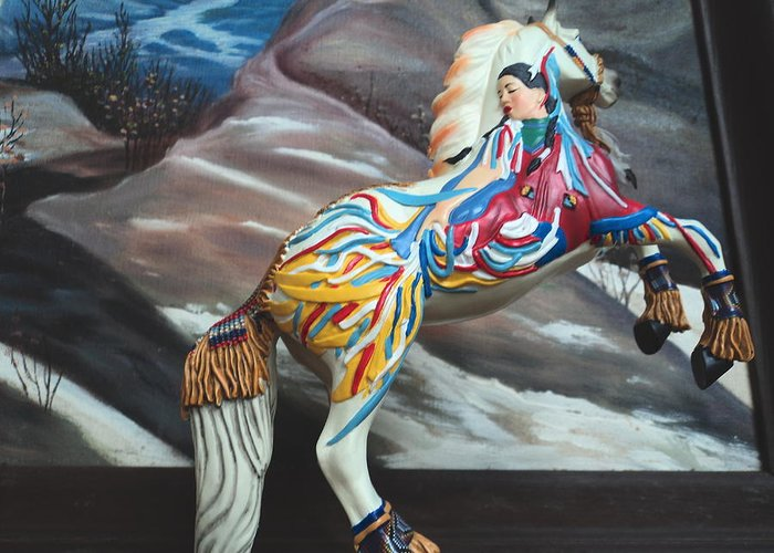 Horse Greeting Card featuring the photograph Rarin' To Go by Anne-Elizabeth Whiteway