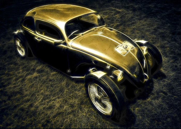 Vw Beetle Greeting Card featuring the photograph Rat Beetle by motography aka Phil Clark
