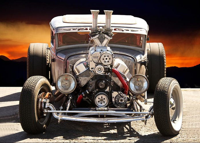 Coupe Greeting Card featuring the photograph Rat Fink Rat Rod by Dave Koontz
