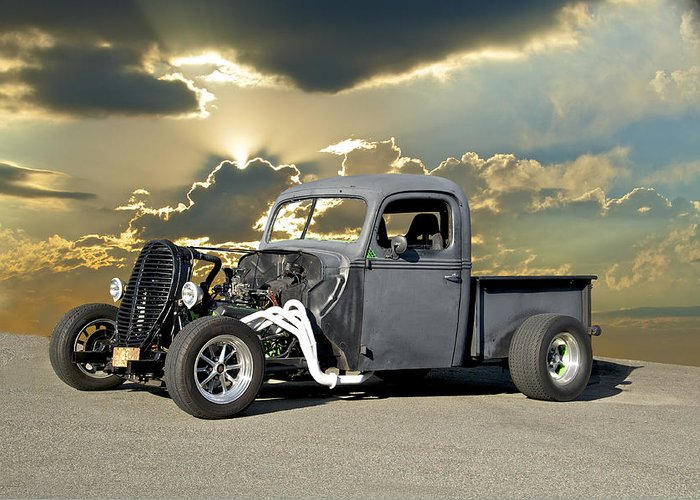 Coupe Greeting Card featuring the photograph Rat Rod Drag Racer by Dave Koontz