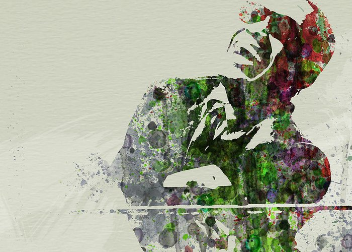 Ray Charles Greeting Card featuring the painting Ray Charles by Naxart Studio