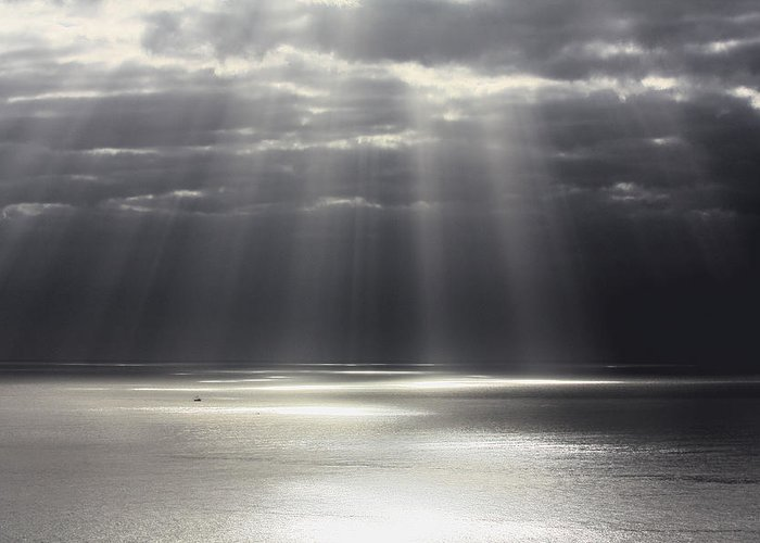 Seascape Greeting Card featuring the photograph Rays Of Hope by Shane Bechler