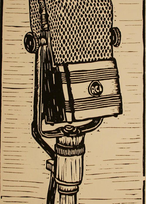 Rca Greeting Card featuring the drawing Rca 44 by William Cauthern