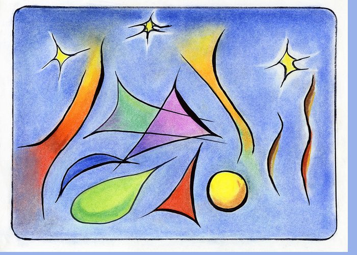 Colorful Greeting Card featuring the painting Reaching For The Stars by Ilona Montel
