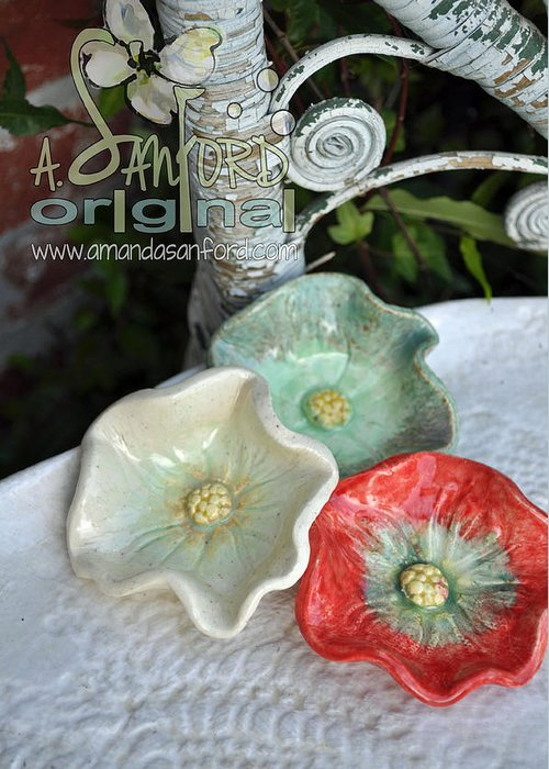 Poppy Greeting Card featuring the sculpture Ready Get Set by Amanda Sanford