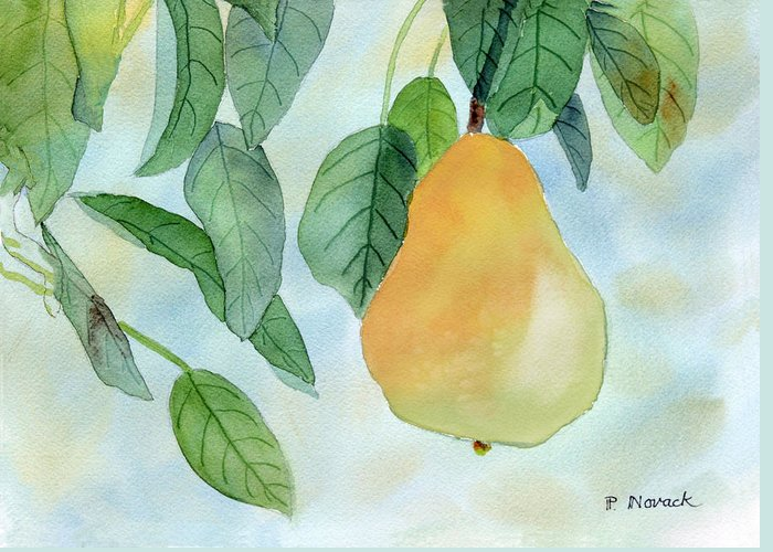 Fruit Greeting Card featuring the painting Ready To Pick by Patricia Novack