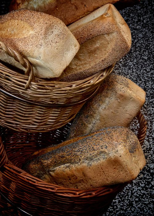 Bread Greeting Card featuring the photograph Real Bread by Odd Jeppesen