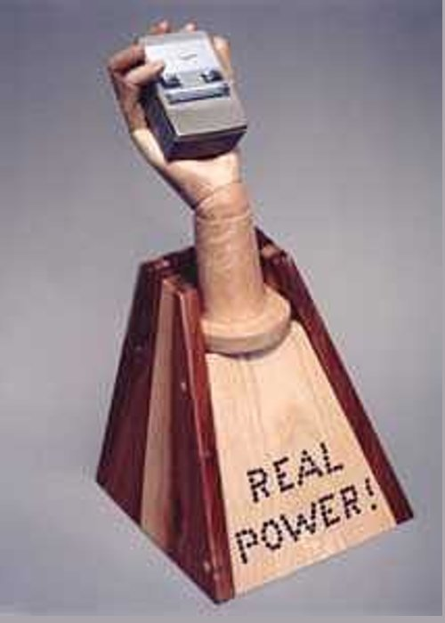 Humor Greeting Card featuring the mixed media Real Power by Bill Czappa
