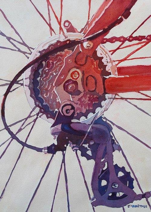 Bicycle Hub Greeting Cards