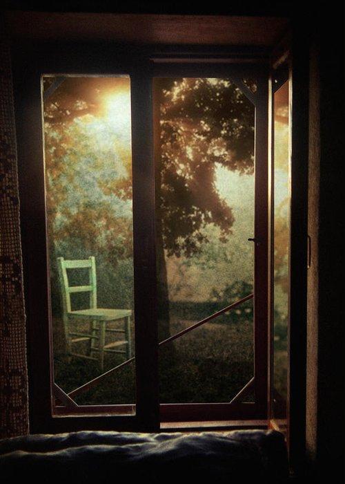 Window Greeting Card featuring the photograph Rear Window by Taylan Apukovska