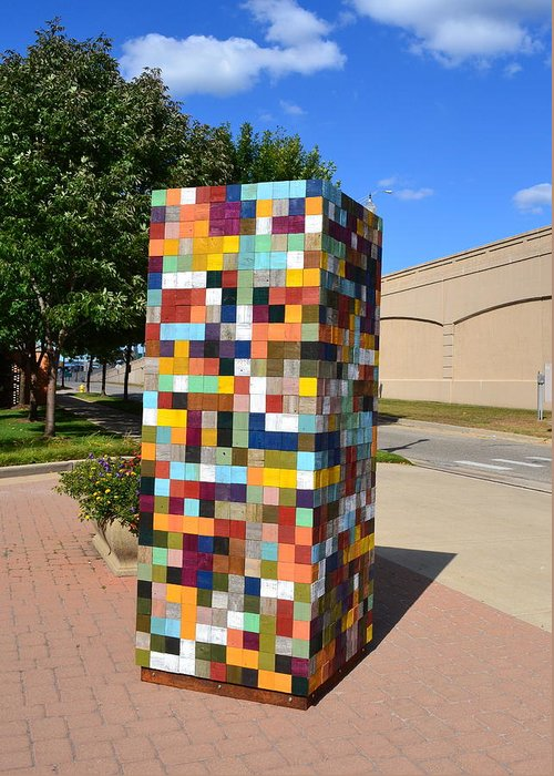 Sculpture Greeting Card featuring the sculpture Reconstructing Fences by Michelle Calkins